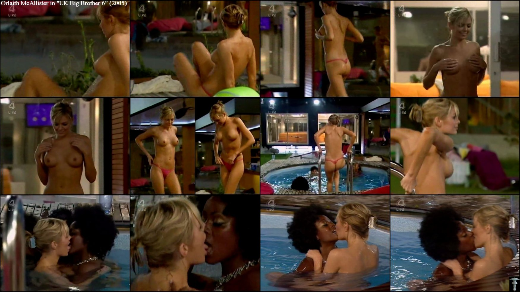 Striptease 3: bandes Jasmine totalement nu Big Brother